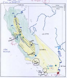 Evaluation de seconde sur le croquis de synthèse : l'eau en Californie