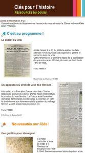 La nouvelle lettre d'information de Clés pour l'histoire