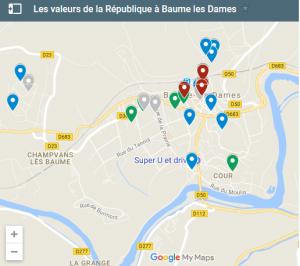 Les valeurs de la République comme grille de lecture d'un territoire. L'exemple de Baume-les-Dames.
