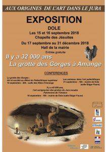 Aux origines de l'art dans le Jura. Il y a 32 000 ans la grotte des Gorges à Amange.